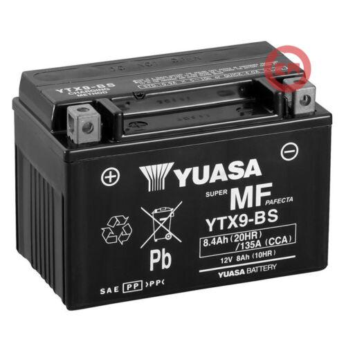 BATTERIA ORIGINALE YUASA YTX9-BS TRIUMPH STREET TRIPLE R 675 2008-2017