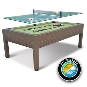 Cool Details About 84 Inch Outdoor Billiard Pool Table Weather Resistant Hand Woven Resin Wicker Home Interior And Landscaping Ponolsignezvosmurscom