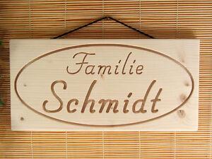 DEKOSCHILD-persoenliche-Gravur-Ihr-Name-Geschenkidee-Massivholz-Tuerschild