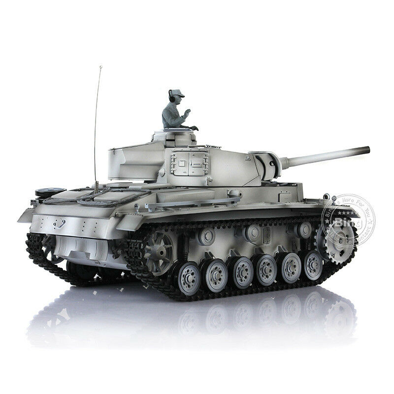 HengLong Winter Snow 1 16 German Panzer III L RC Tank Upgraded Metal 3848-1