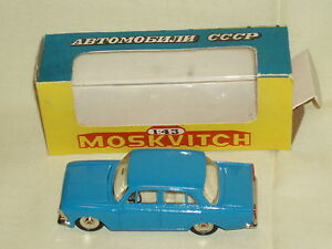 Vintage-scarce-toy-car-diecast-metal-MOSKVITCH-412-USSR-1-43-71-A1-mint-in-box