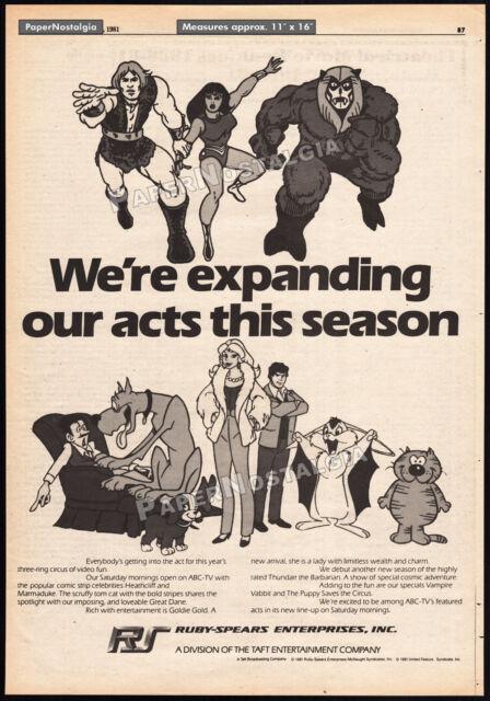 RUBY-SPEARS__Original 1981 Trade AD / TV promo__Thundarr the Barbarian_Marmaduke