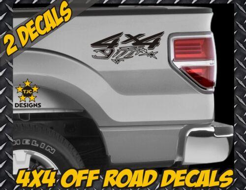 Salt Fish Super Duty F-250 4x4 Truck Bed Decal Set MATTE BLACK for Ford F150