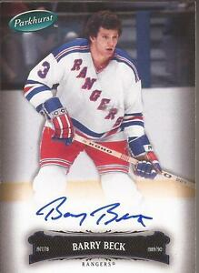 BARRY-BECK-2006-07-Upper-Deck-Parkhurst-Autograph-12-New-York-Rangers