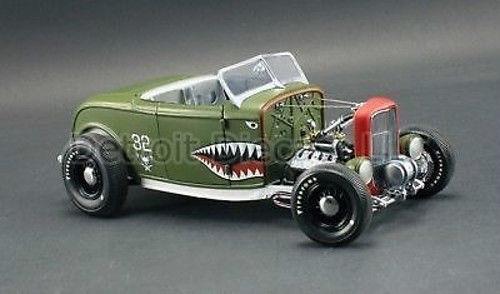 1 18 Gmp 1932 Vert Queue Bouche Aero Rat Rod V8