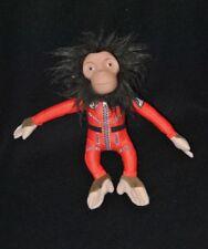 Peluche doudou singe brun SPACE CHIMPS Chimpanzés de l'espace rouge 23 cm TTBE