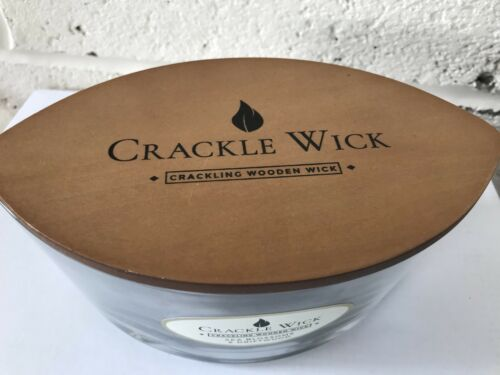 Luxury Grey Crackle Wick approx 30 hour Scented Crackle Candle luxury elipse jar
