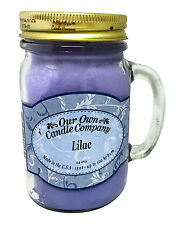 Lilac Scented Candle in 13 oz Mason Jar by Our Own Candle Company