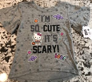 NWT-HELLO-KITTY-TODDLER-GIRL-HALLOWEEN-SHIRT-SIZE-3T