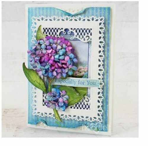 Heartfelt Creations Stamp /& Die Combo  ~ COTTAGE GARDEN HYDRANGEA ~  3900 7278