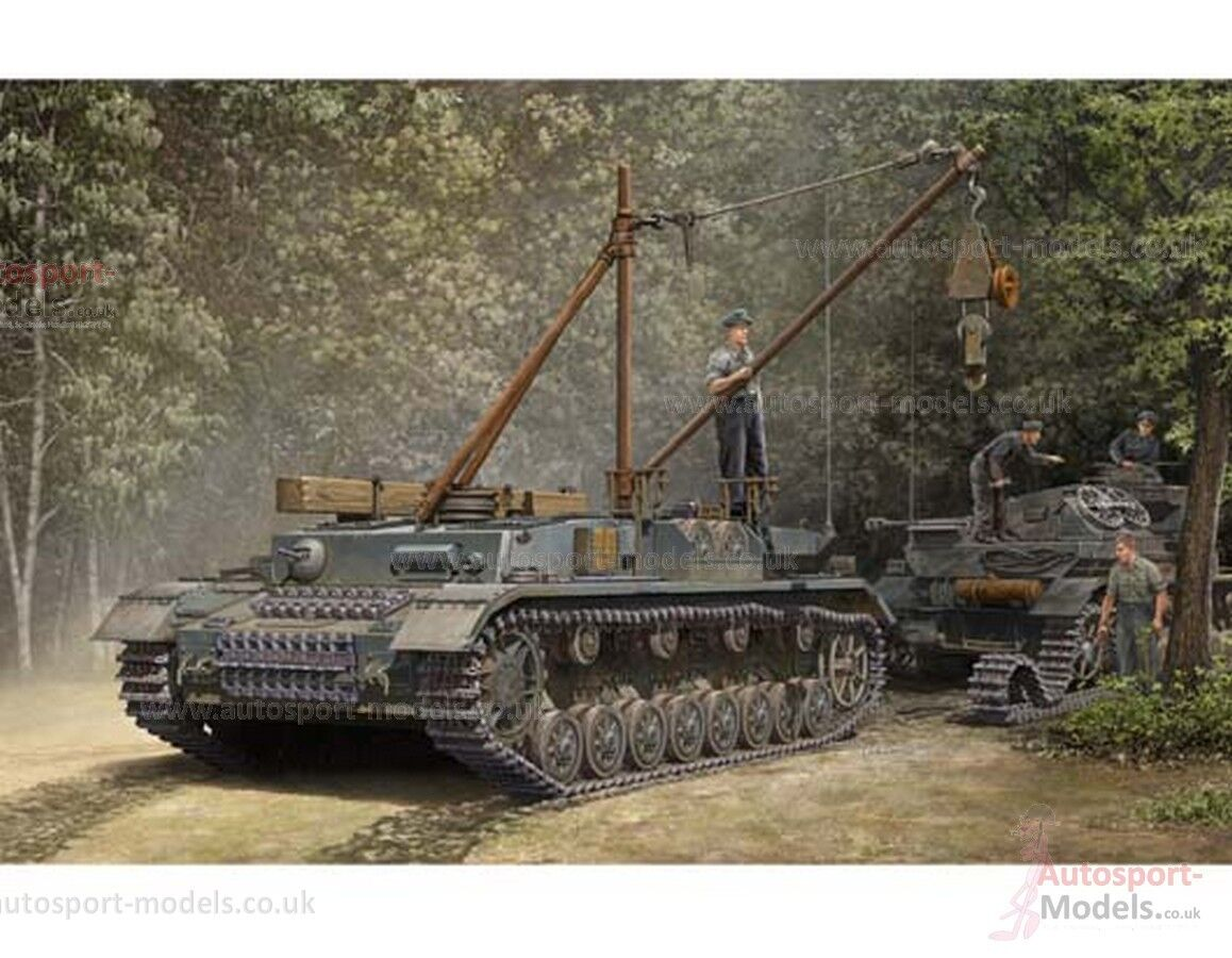1 35 scale WWII German Bergepanzer IV Recovery Vehicle model kit by Trumpeter