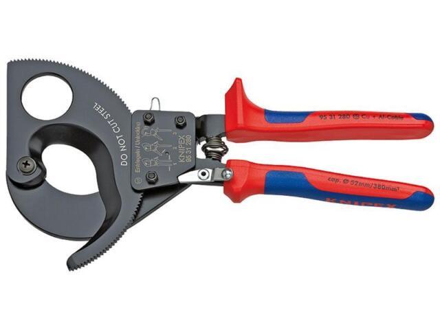 Knipex Kabelschneider (Ratschenprinzip) mit Mehrkomponenten-Hüllen 280 mm
