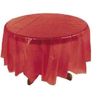 Image is loading Round-Table-Covers-Red-Christmas-Decoration  sc 1 st  eBay & Round Table Covers - Red Christmas Decoration | eBay