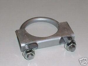 "U-Bolt Exhaust Clamp 2/"" Muffler Clamp Saddle Style Mild Steel  MBS"