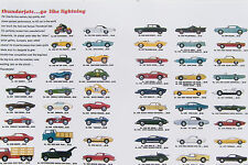 """HO Slot Car AURORA AFX Tjet 1969 CARS 11"""" x 18"""" COPY T-JET Poster HAS CAR PRICES"""