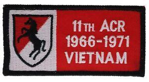 Armée Américaine 11ème Acr '66-' 71 Vietnam Patch H1161d38 YC2oKxi9-09154057-172604195