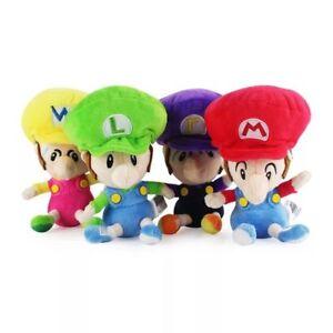 Super Mario Plush Soft Toy Doll Baby Mario Luigi Waluigi Wario