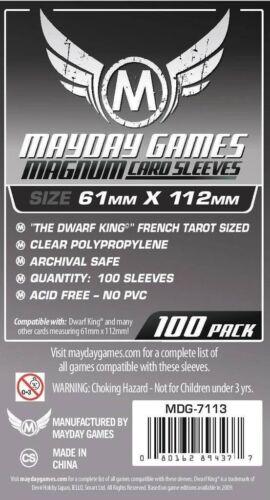100 Magnum PLATINUM CARD SLEEVE RE DEI NANI FRANCESI TAROCCHI dimensioni MDG7113