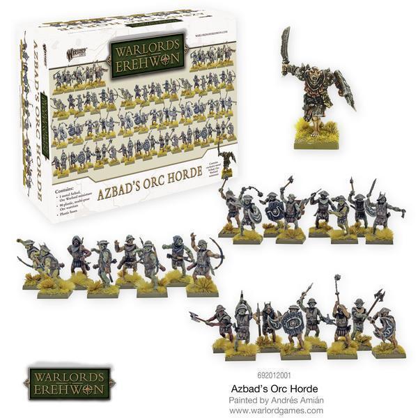 Warlords de Erehwon AZBAD'S Orc Horde - Warlord Games - Fantasy