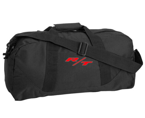 Dodge R//T Style Custom Embroidered Black Duffel Bag