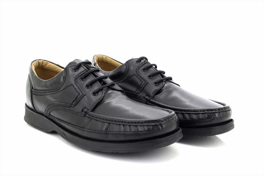 Roamers M295 Soft Leather Canoe Front Apron Tie Lace Up zapatos