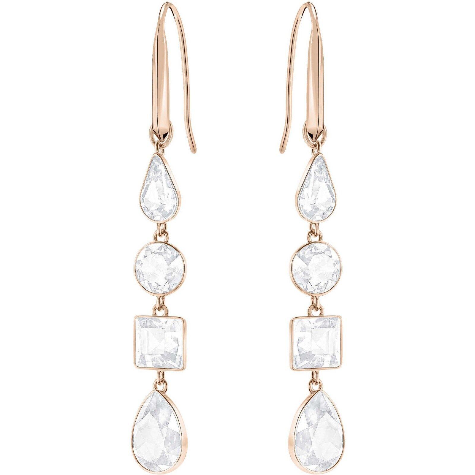 SWAROVSKI 5395236 White Lisanne Pierced Earrings NIB Authentic
