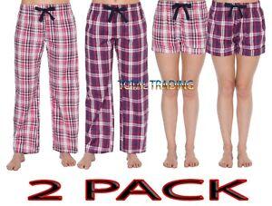 Womens-Ladies-Lounge-Pants-Pyjama-Bottoms-Trouser-OR-SHORTS-Nightwear-PJ
