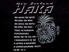 New Zealand Haka Tee - Maori Ancestry Tribal War Cry Dance Souvenir T Shirt XL