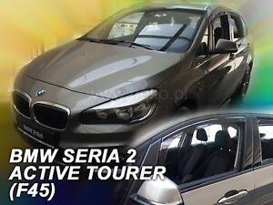 Details About Bmw Serie 2 F45 Active Tourer 2015 Up Front Wind Deflectors 2pc Set Tinted Heko