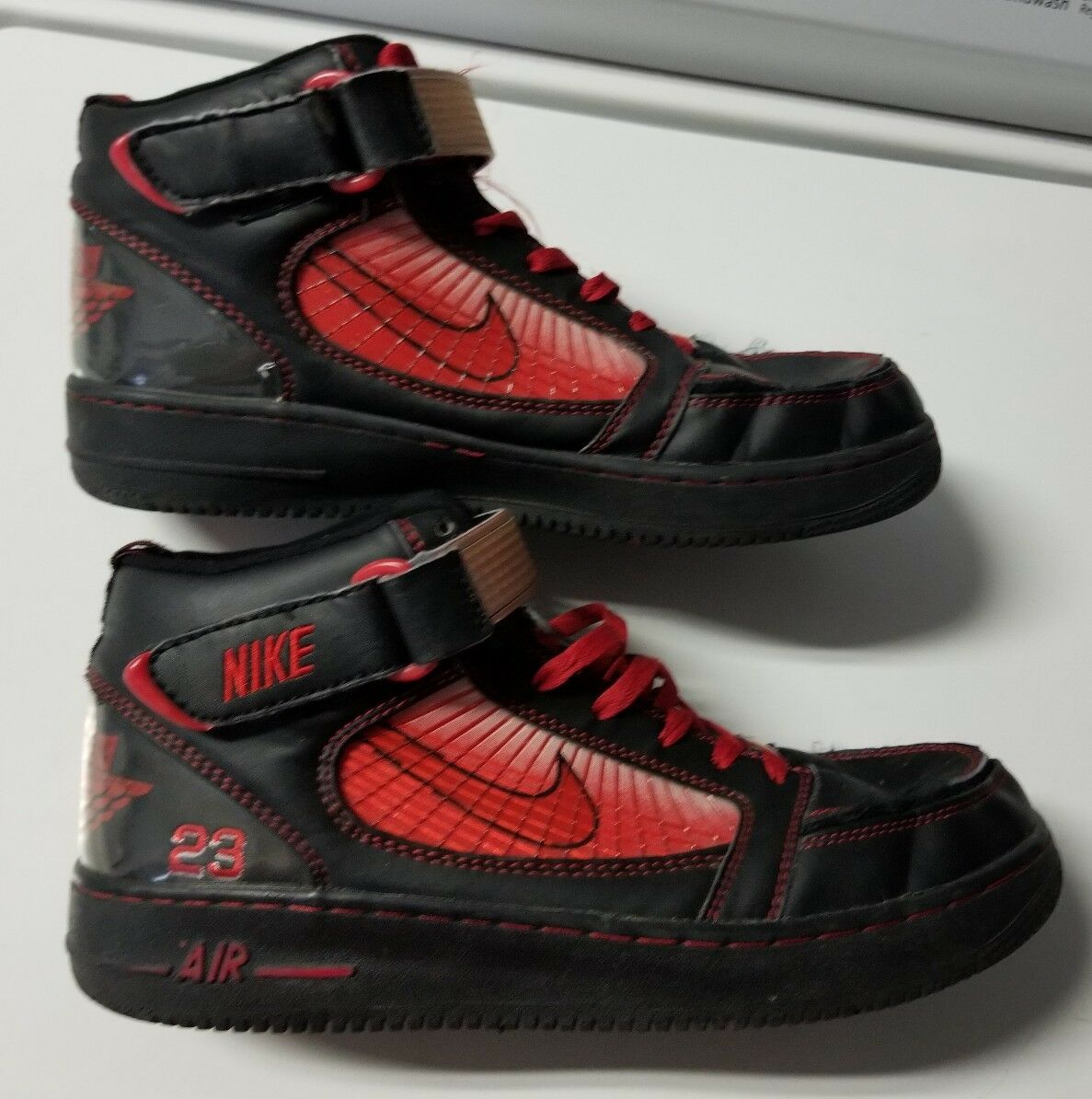 Vintage - nike air force 1 air jordan 10,5  10,5 jordan schwarz - rot d28571