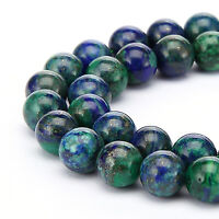 Beautiful Chrysocolla Smooth Round Loose Beads 15.5''long Size 6mm/8mm/10mm/12mm