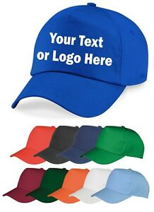 Image is loading Personalised-Kids-Embroidered-Baseball-Cap-Custom-Printed- Hat- affb43a050d1