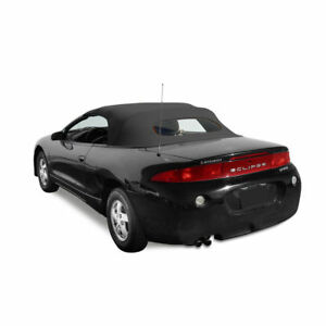 Details About Mitsubishi Eclipse Convertible Top Heated Gl Window 95 99 Black Twill