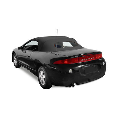 Mitsubishi Eclipse Convertible Top /& Heated Glass Window 95-99 Black Twill