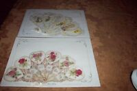 2 Victorian Fan Time Greeting Cards Old Print Factory Mint & Sealed