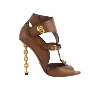 52785 auth TOM FORD brown leather CHAIN