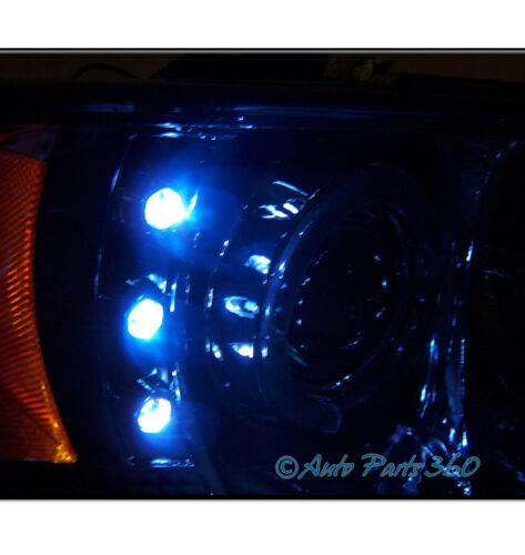 94-01 DODGE RAM HALO LED CHROME PROJECTOR HEADLIGHT W//BUMPER FOG LAMP+8K HID NEW