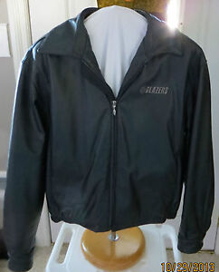 78167ccb3d34 Portland Trail Blazers Black Leather Men s Lined Jacket Size L Gear ...