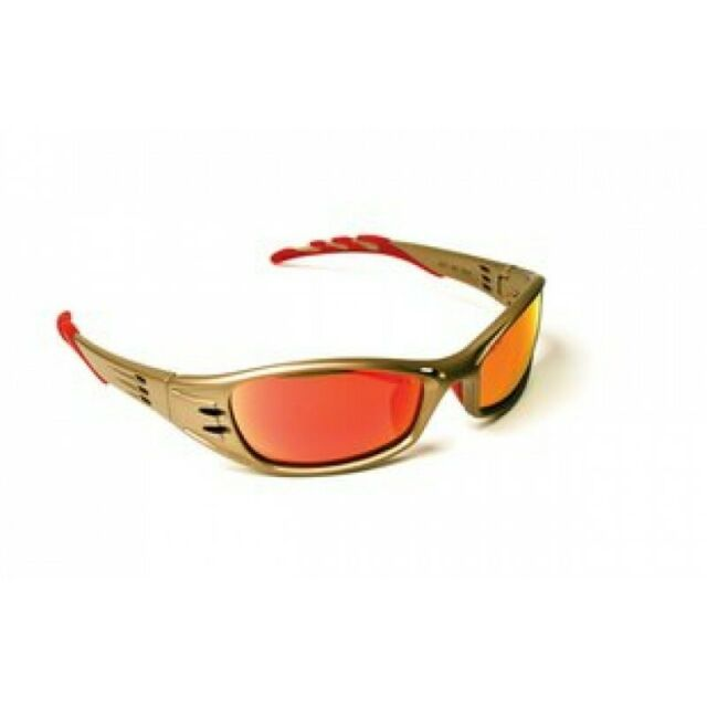 71502-00003 Anti-Scratch Bronze Frame Fuel Safety Glasses Red Mirror Lens