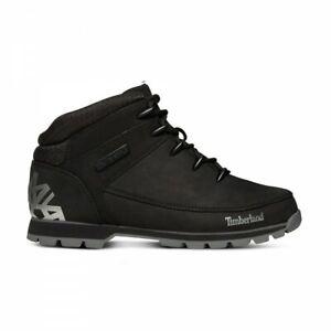 Timberland-Euro-Sprint-Black-Nubuck-reflektierende-Leder-Herren-Hiker-Boots-a1ri9