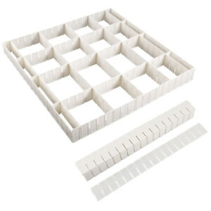 12-24x Adjustable DIY Grid Clapboard Divider Drawer Closet Storage Organizer