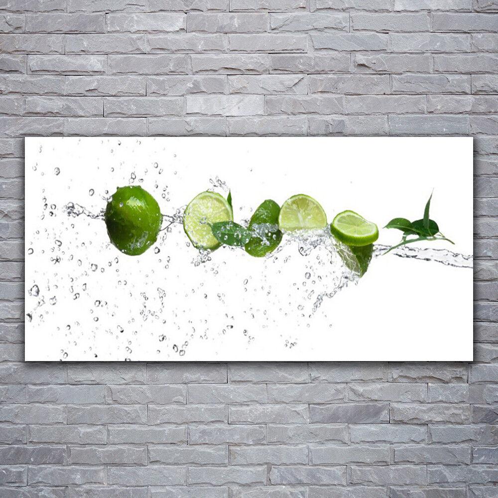 Photo sur toile Tableau Image Impression 120x60 Cuisine Citron verde Lime Eau