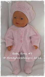 8031c40a1 Honeydropdesigns   PAPER KNITTING PATTERN  7   For Baby Born ...