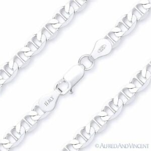 Solid-925-Italy-Sterling-Silver-5-3mm-Marina-Mariner-Link-Italian-Chain-Bracelet