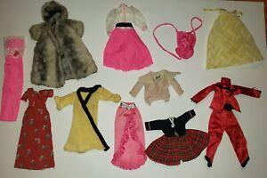 Vintage Lot Of Mattel Barbie Clothes Retro Mod Outfits Fashion 1960s Ebay