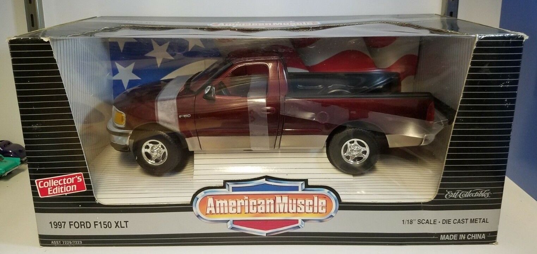 1/18 Ertl American Muscle 2018 Ford F-150 Xlt camioneta carmesí YD