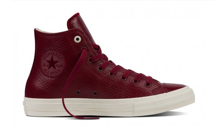 New Converse Chuck Taylor II Hi Top Leather Mesh Red/Parchment/Gum 153553C b1