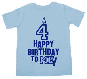Das Bild Wird Geladen 4 Geburtstag T Shirt 034 Happy Birthday To