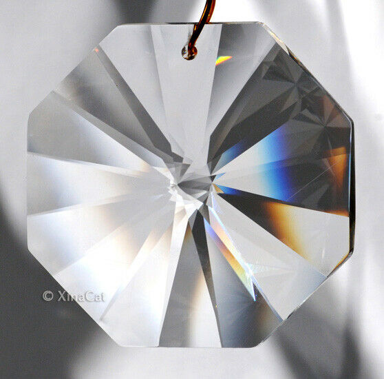 "Asfour 16 Facet 7103 40mm Crystal Clear 1-1/2"" Octagon Vintage Prism Retired"