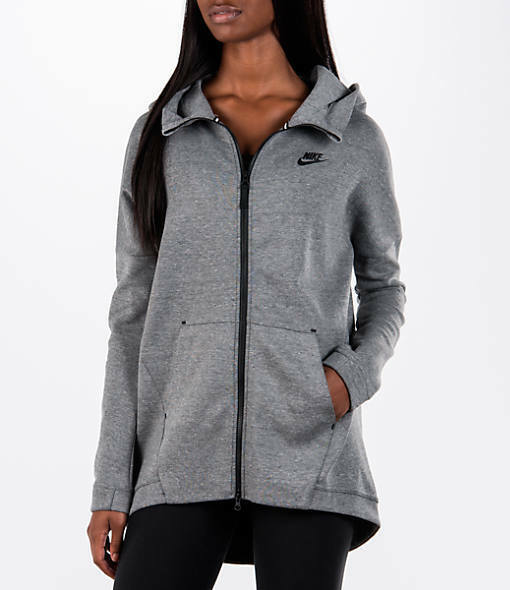 2591c9d569c4 Womens Nike Tech Fleece Cape Hoodie Size S (811710 063) Grey   Black for  sale online